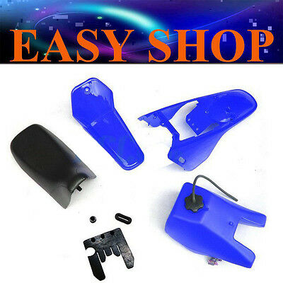 BLUE Plastic Fender Kit Body Cover Fuel Tank Seat Fairing Yamaha PW80 PY80 Bike