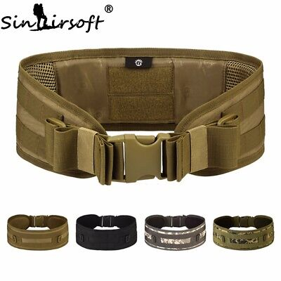 Tactical Military Hunting Mens Duty Belt Airsoft Molle Combat Waist Padded Belts
