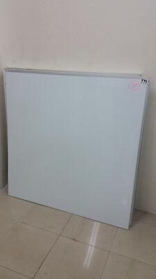 New Porcelain Whiteboard*commercial Quality*119 X 119*magnetic*wall Mounted*4Xav