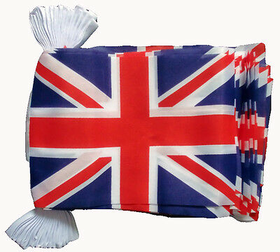 UNION JACK BUNTING FLAGS  ROYAL WEDDING 33 FOOT RED WHITE BLUE 10 meters