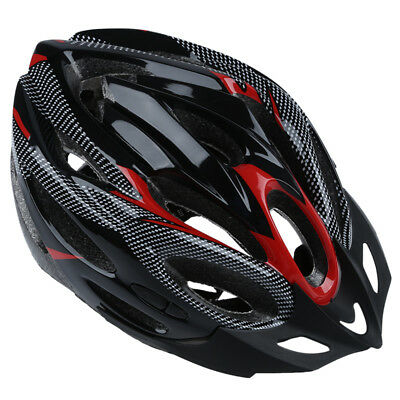 JING SU ZHE Sports Bike Bicycle Cycling Safety Helmet with Visor Adult Red X7F9
