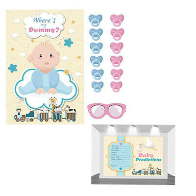 20 X Baby Shower Games - Prediction & Advice Cards Unisex Cloud New Mum To Be
