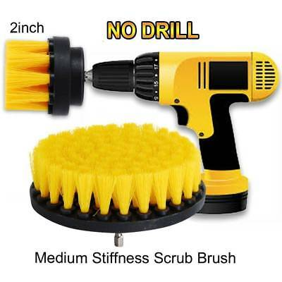 3Pcs Round Full Electric Bristle Drill Brush Rotary Cleaning Sofa Attachment Set