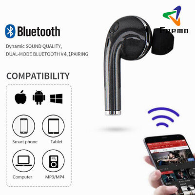 Stereo Bluetooth Earphone Wireless Earbud In-Ear Headset for Samsung/iPhone/HTC