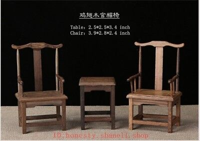 Miniature sculpture of Chinese collector's furniture wenge chair— 管帽椅