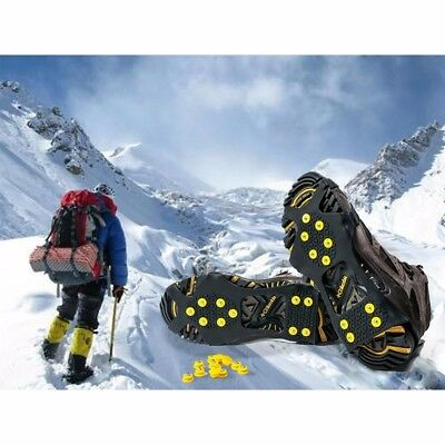 DE Studded Snow Grips Ice Grips Cleats Over Shoes Anti-Slip Snow Shoes Crampo BI