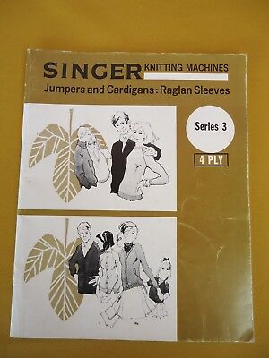 Singer Knitting Machine Pattern Book Series 3 VINTAGE Jumpers Cardys 4 Ply #5937