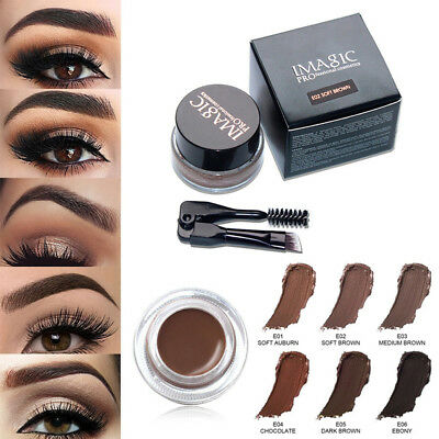 Eyebrow Waterproof Long Lasting Eye Brow Cream Gel Makeup with Brush Hot Sale
