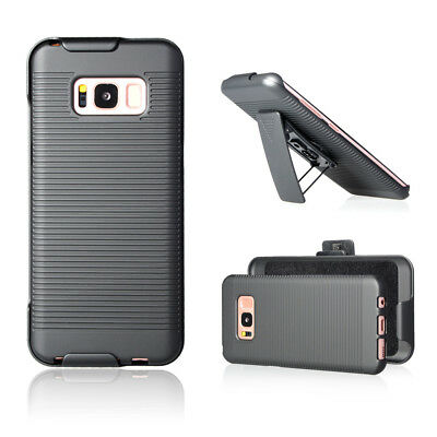 For Samsung Galaxy S8  Belt Clip Holster Cell Phone Case With Kickstand