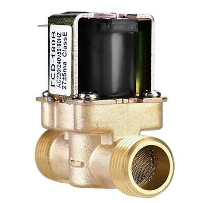 "Brass 1/2"" N/C Magnetic Electric Solenoid Valve Water Air Inlet Flow Switch 220V"