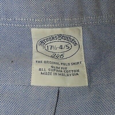 Brooks Brothers mens Oxford weave shirt  collar size 17.5-4/5