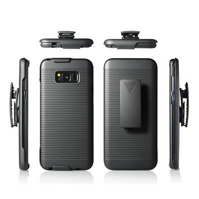 For Samsung Galaxy S8 Plus  Belt Clip Holster Cell Phone Case With Kickstand