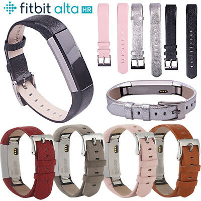 Replacement Leather Wristband Band Strap Bracelet For Fitbit Alta HR Watchbands