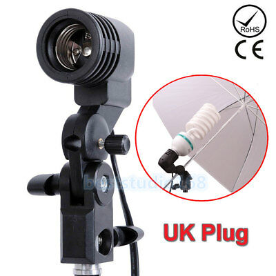 Photo Studio Bulb Holder Lamp light Brolly Flash Umbrella Mount Stand E27 Socket