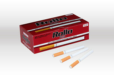 1200 MICRO SLIM RED EMPTY ROLLO TUBES Cigarette Tobacco Rolling Filter ventti