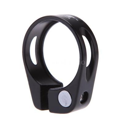 Road Bike MTB Seat Post Clamp Seatpost Clamp Quick Release QR 31.8mm Black Q4E1