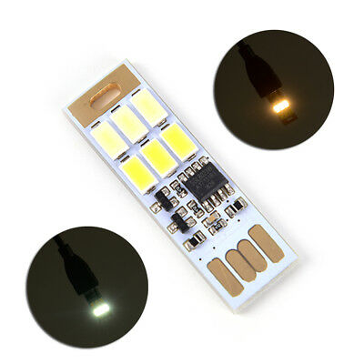 Touch control 2 lightcolor adjustable LED USB Light Double Sided Pluggable WH