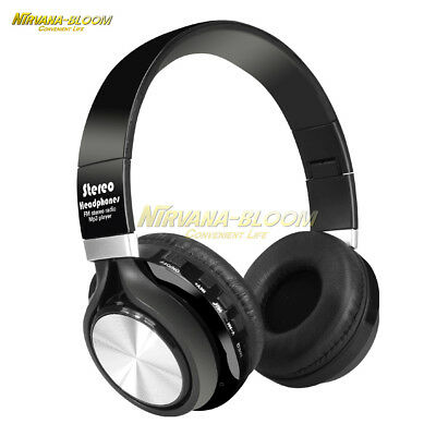Mic/MP3/FM/SD 4 in 1 Wireless Bluetooth Stereo Music Headset Headphone Earphone