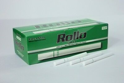 1200 ROLLO MENTHOL GREEN ULTRA SLIM Tobacco Cigarette filter tubes Memphis venti