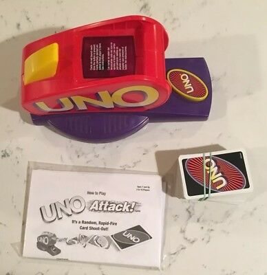 Uno Flash Electronic Card Game Mattel 2007 Rare Game And