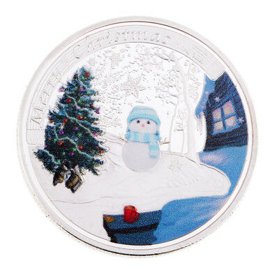 Christmas Tree Snowflake Coin Toy Commemorative Challenge Coin Toy Token Art