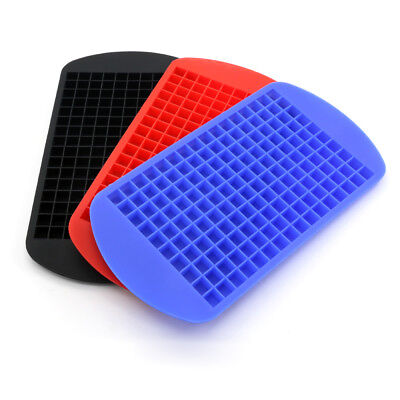 160 Small Cubes Silicone Ice Cube Tray Mold Mould Maker Bar Home Decor UK cckk