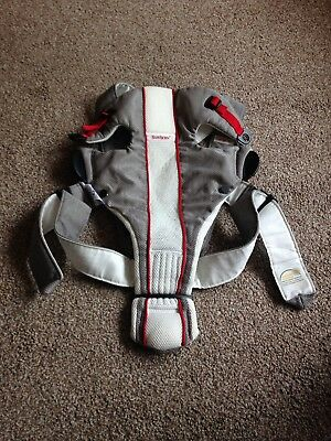 Baby Bjorn Baby Carrier Original Air Mesh Silver/White/Red