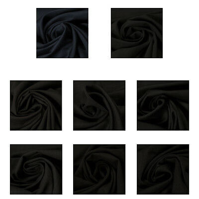Premium Quality Wool Blends Black Fabric Upholstery Fashion Clothings Crafts