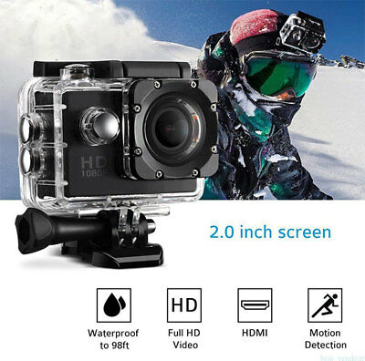 32G 1080P PRO CAM SPORT ACTION CAMERA DV ULTRA HD VIDEOCAMERA Impermeabile KIT *