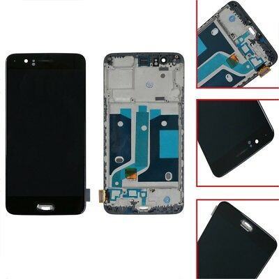 Black For Oneplus 5 A5000 LCD Digitizer Touch Screen Assembly Replacement Newest