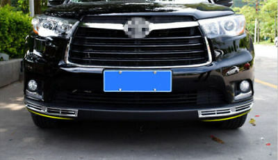 for Toyota Highlander Kluger 2014-2016 Front Fog Light Bottom Grille Cover Trim