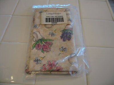 NIP Set Of 2 Longaberger Fabric Napkins Early Blossoms Easter Spring Flowers