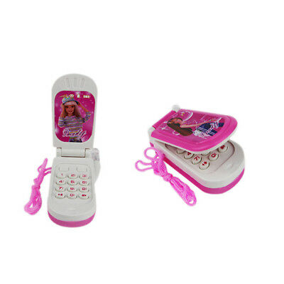 Barbie Music light Mobile Cell Phone Kids Electronic Educational Toy Pink UK