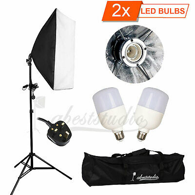 Photography Studio LED 50W Softbox Continuous Lighting Stand Kit Photo Video New