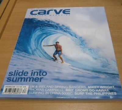 Carve surfing magazine #187 JUN 2018 Mikey Wright, Brit Groms in Hawaii, Boards
