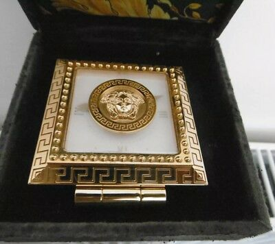 Medusa Gianni Versace  Gold plated desk clock- valuable. Collector item. RARE.
