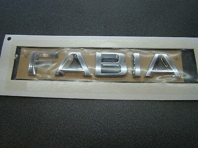 Genuine New Style SKODA FABIA BOOT BADGE Rear Emblem 2013+ 1.4 1.6 TDI TSI