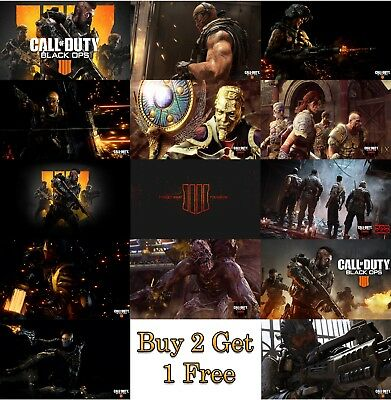 Call of Duty Black Ops 4 Gaming Poster Print Wall Art A4 A3 A2 Xbox PS4 COD Game