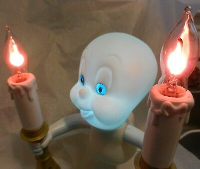 Vintage Candelabra Casper the Friendly Ghost Light Up Lamp Halloween Cool