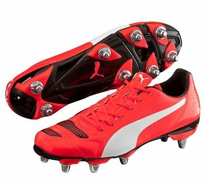 New Puma evoPOWER 4.2 H8 SG Red Rugby Boots UK Size 8