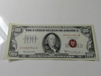 1966  Red Seal  100 Dollar  Note.............99  Cent  Start...no  Reserve