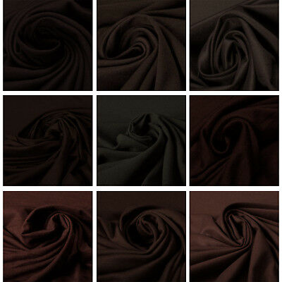 Premium Quality 100% Wool Brown Fabric Upholstery Fashion Clothings Crafts