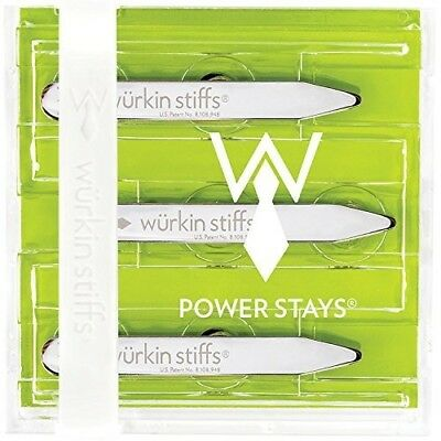 """2.5"""" Power Magnetic Collar Stays 3 Pairs NEW"""