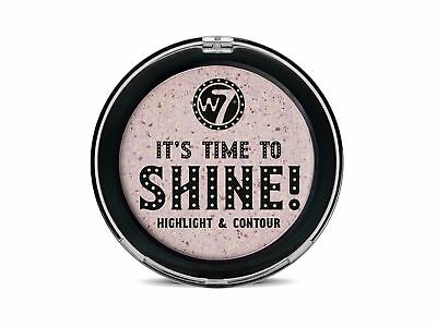 W7 It's Time to Shine! Highlight and Contour Compact Powder for Healthy Look