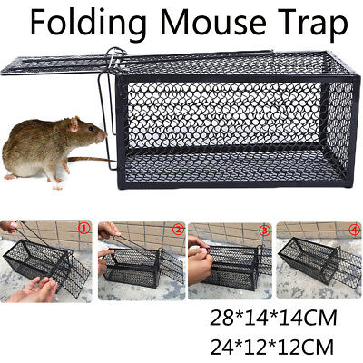New Metal Mouse Mice Trap Humane Live Catcher Rat Vermin Rodent Cage Traps Pest