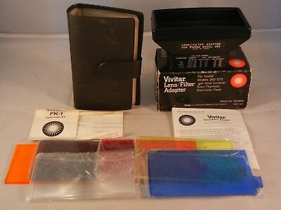 Vivitar 283 Lens/Filter Adapter and Colored Filter and Variable Angle Kits