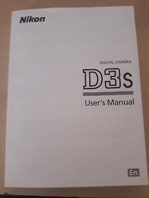 Nikon Genuine D3s Camera Instruction Book / Manual / User Guide