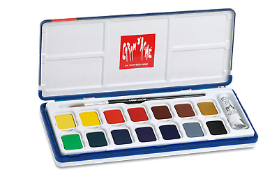 Caran d'Ache Gouache Studio 15 Colors Paint Tablets for Amateur Artists