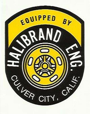 """Halibrand Eng """"Equipped by"""" Culver City Vintage Speedway Sticker"""