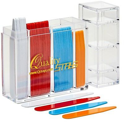 """100 Collar Stays - Color Coded Sizes 2 """", 2.2"""", 2.5"""", 2.75"""" High-Quality NEW"""